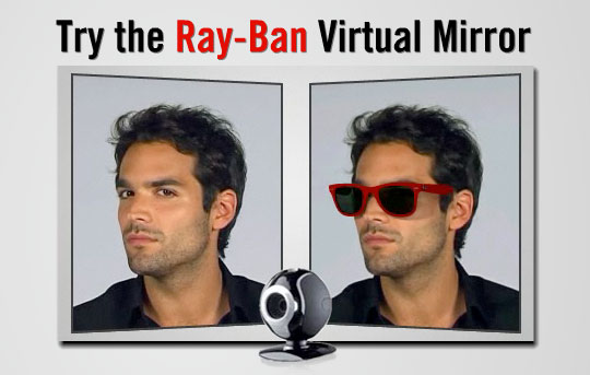 virtual mirror ray ban clubmaster