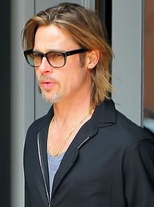 92d8f0bb64b76 Brad Pitt de óculos Geek   Lentes e Óculos Viallure