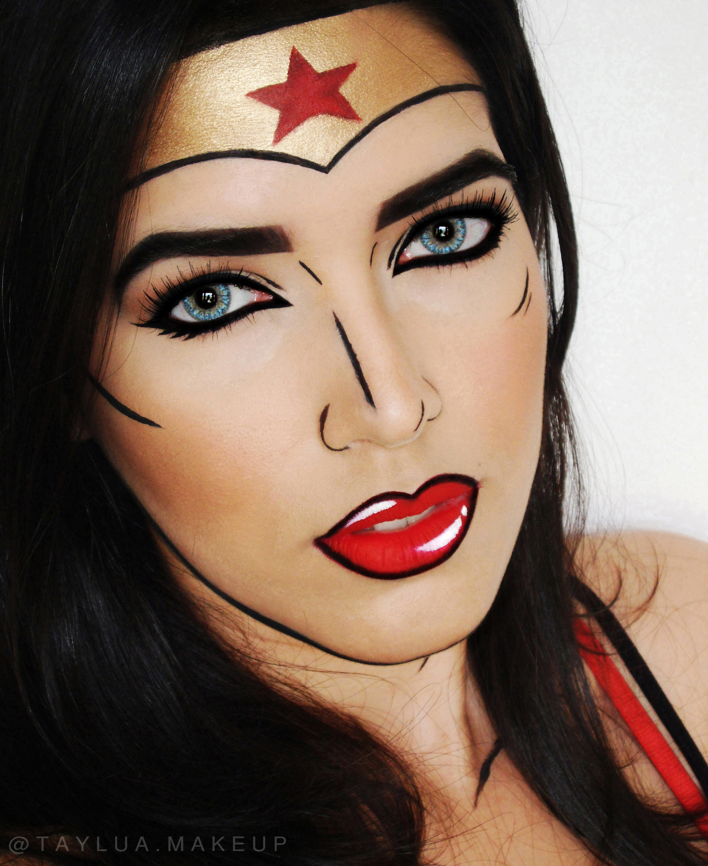 Wonder woman makeup