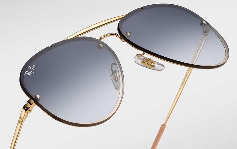 f22344dd2 Sempre inovando, a Ray-Ban lançou a coleção Blaze de óculos de sol, que  revisita os modelos já existentes, mas adicionando toques super especiais e  ...